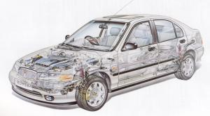 Rover 400 cut-away